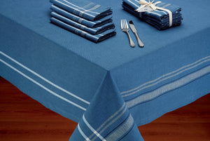 French Blue Chambray Tablecloth - the-southern-magnolia-too