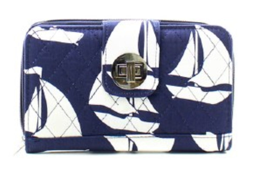 Quilted Sail Boat Wallet - the-southern-magnolia-too