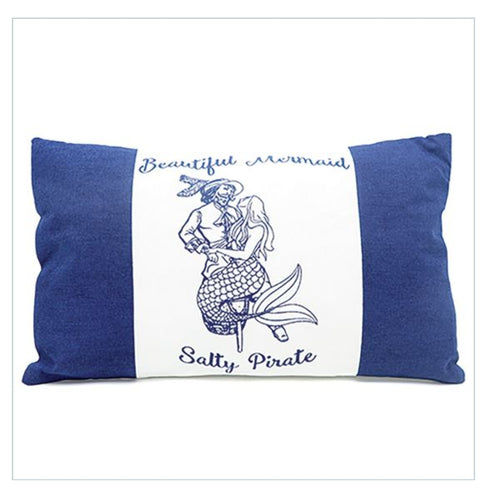 Mermaid Pirate Accent Lumbar Pillow - the-southern-magnolia-too