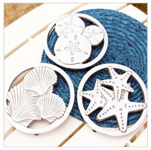 Load image into Gallery viewer, Sealife Trivet Starfish Sand Dollar Shell - the-southern-magnolia-too