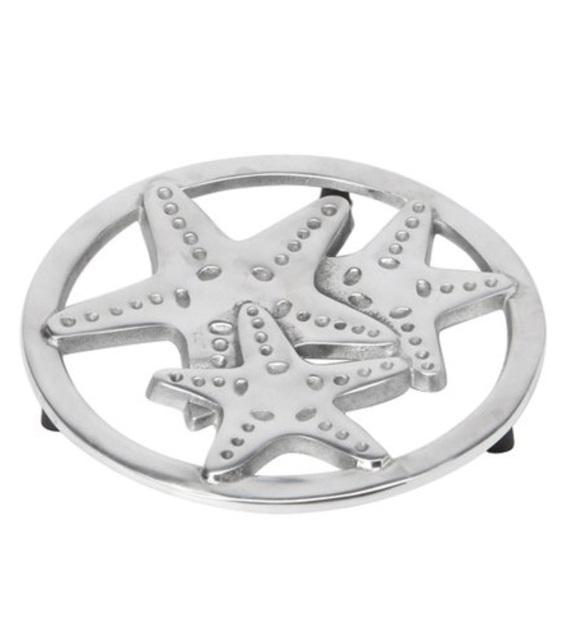 Sealife Trivet Starfish Sand Dollar Shell - the-southern-magnolia-too