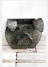 Load image into Gallery viewer, Tin Pig Shaped Bucket - the-southern-magnolia-too