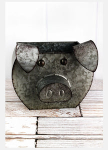 Tin Pig Shaped Bucket - the-southern-magnolia-too