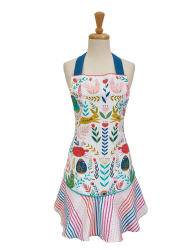 Easter Folk Garden Printed Apron - the-southern-magnolia-too