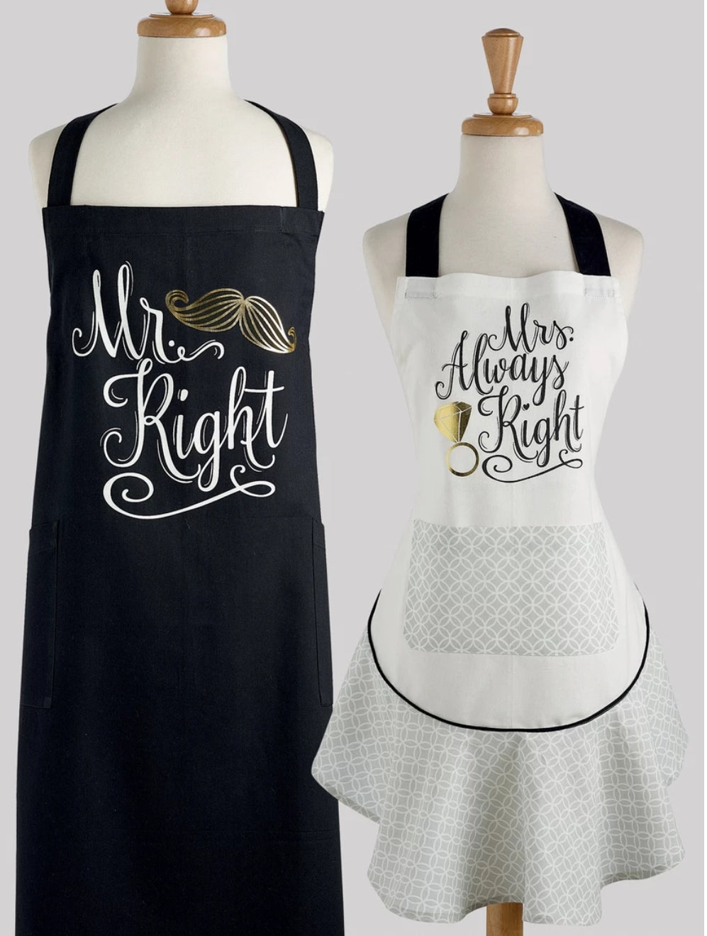 Mister Right and Mrs Always Right Apron Set - the-southern-magnolia-too