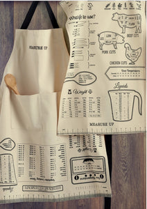 Measure Up Printed Chefs Apron - the-southern-magnolia-too