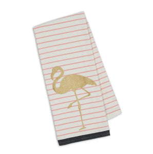 Golden Flamingo Printed Dishtowel Set - the-southern-magnolia-too