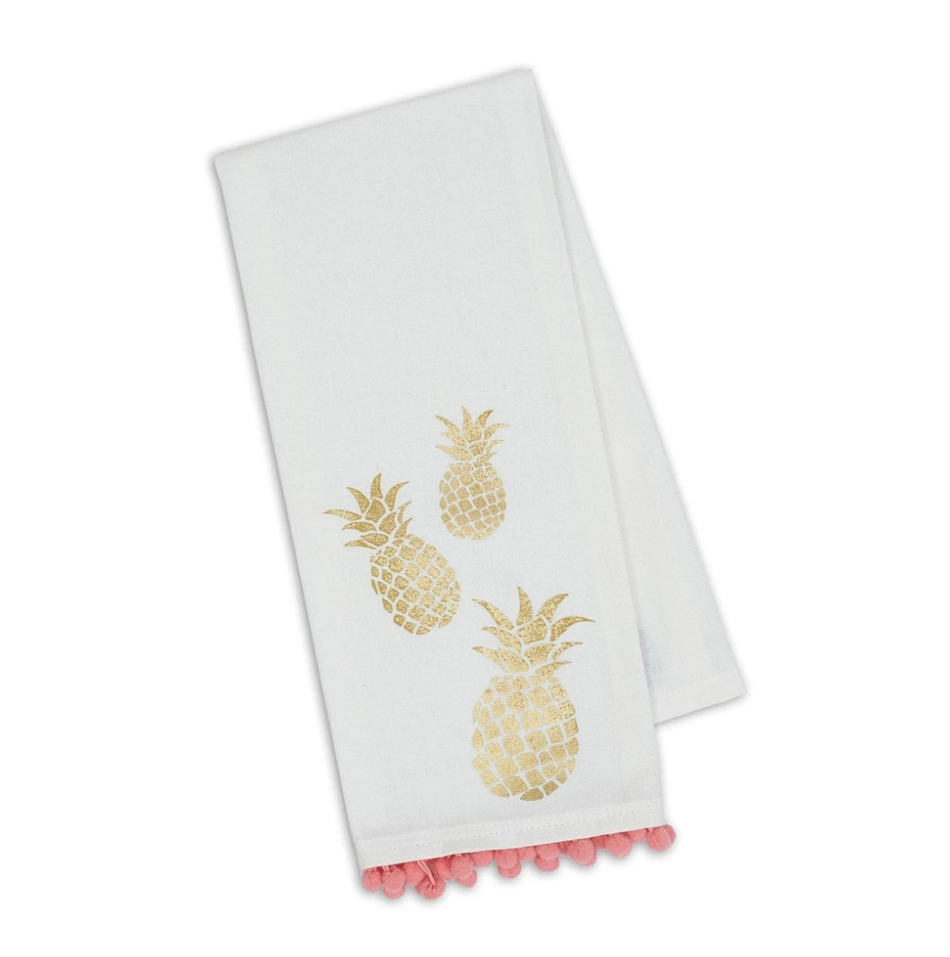 Pineapple PomPom Printed Dishtowel - the-southern-magnolia-too