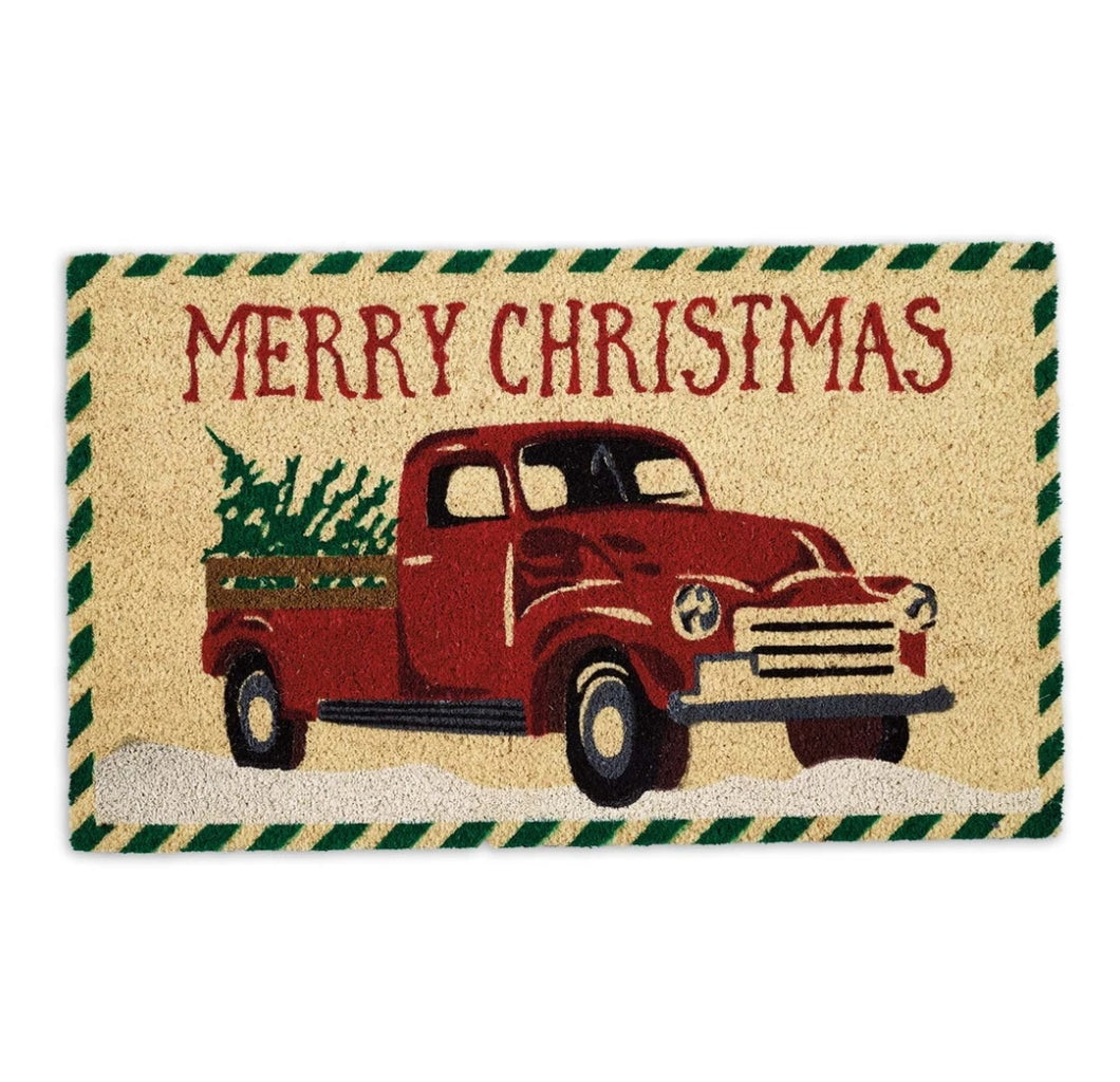 Merry Christmas Truck Doormat - the-southern-magnolia-too