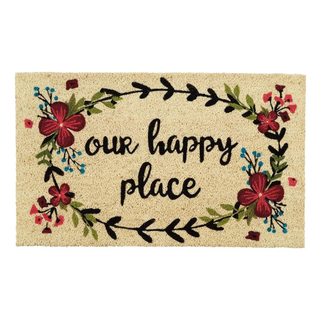 Our Happy Place Doormat - the-southern-magnolia-too