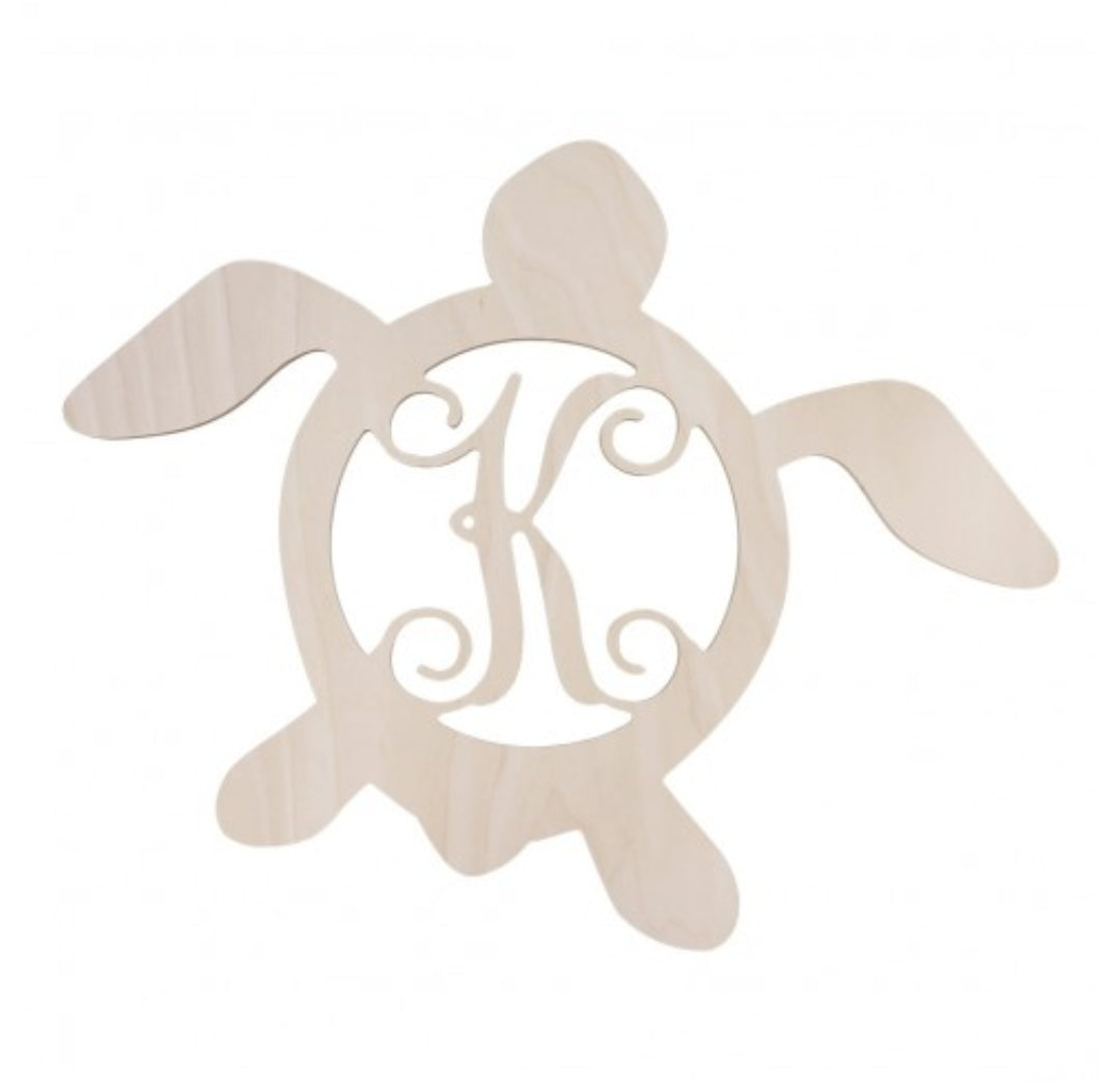 Turtle Wood Monogram - the-southern-magnolia-too