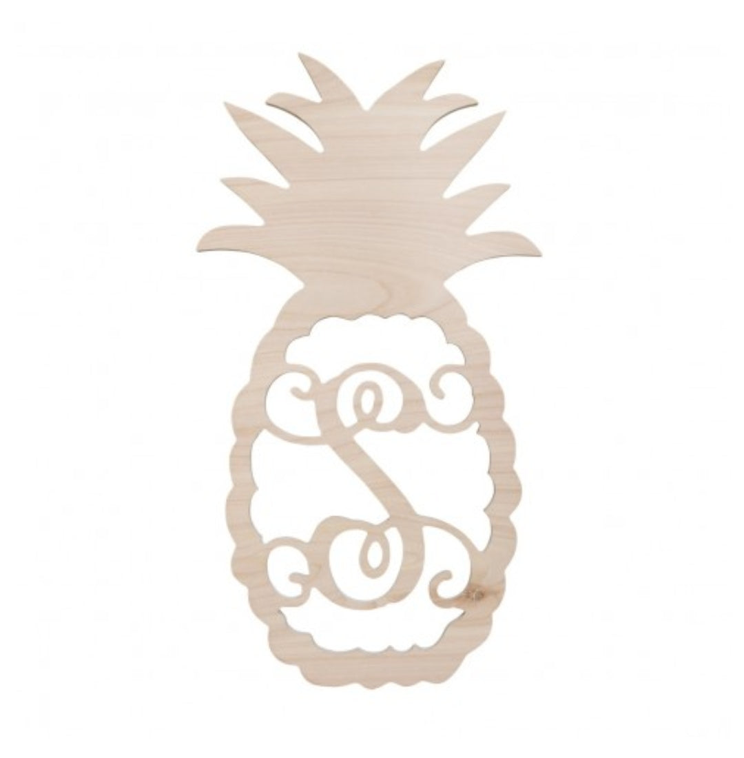 Pineapple Wood Monogram Wall Hanging - the-southern-magnolia-too