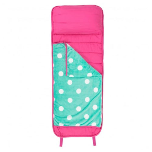 Hot Pink Mint Dot Nap Mat - the-southern-magnolia-too