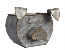 Load image into Gallery viewer, Tin Pig Shaped Bucket