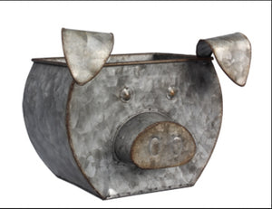 Tin Pig Shaped Bucket