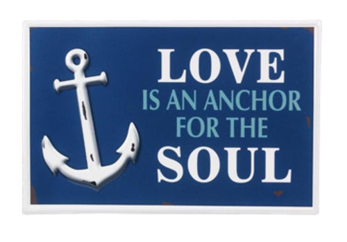 Love Is An Anchor For The Soul Nautical Metal Sign - the-southern-magnolia-too