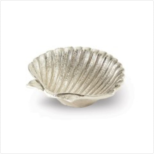 Nickel-plated Shell Dish - the-southern-magnolia-too