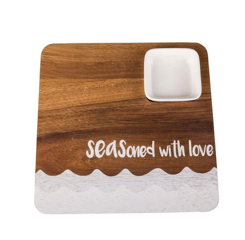 Seasoned with Love Appetizer Wave Board with Dip Cup - the-southern-magnolia-too