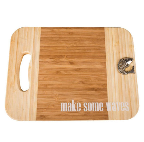 Make Some Waves Cutting Board with Fish - the-southern-magnolia-too