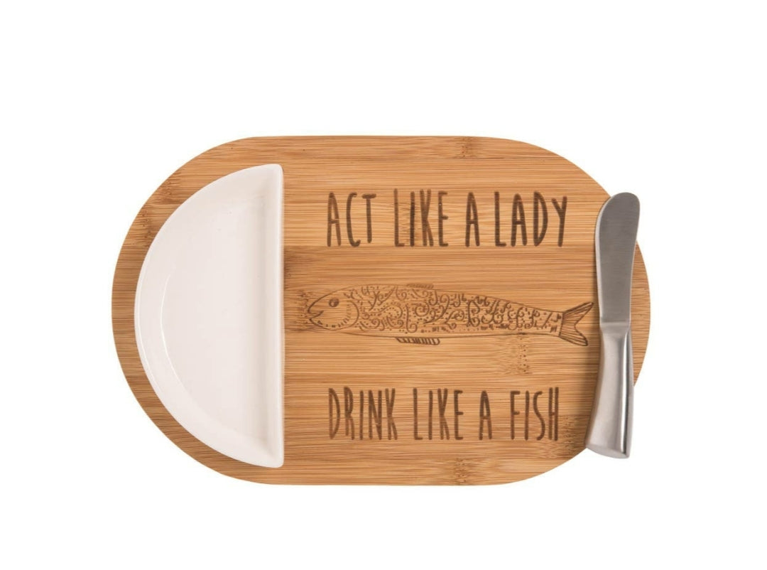 Fish Cutting Board Drink Like a Fish - the-southern-magnolia-too