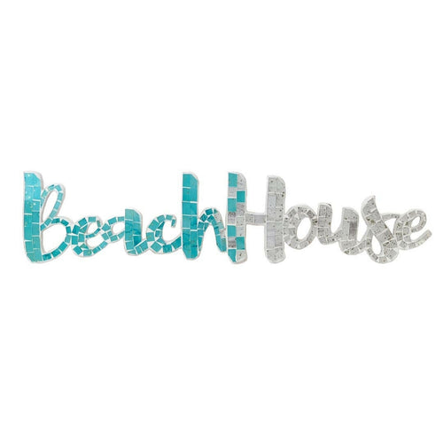 Wood Mosaic Beach House Wall Hanging - the-southern-magnolia-too