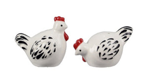 White Chicken Salt and Pepper Shaker Set