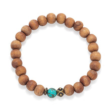 Load image into Gallery viewer, Wood Bead Fashion Stretch Bracelet - the-southern-magnolia-too
