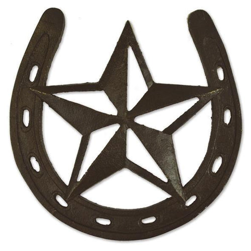 Bronze Colored Cast Iron Western Horseshoe Star Trivet - the-southern-magnolia-too