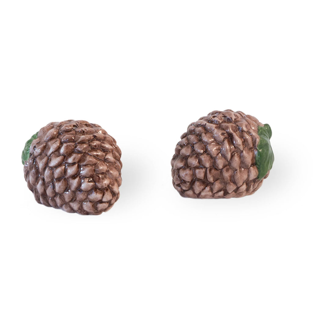 Pine Cone Ceramic Salt and Pepper Shaker Set - the-southern-magnolia-too