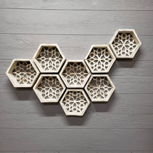 Load image into Gallery viewer, Honeycomb Bee Floating Wall Shelf - the-southern-magnolia-too