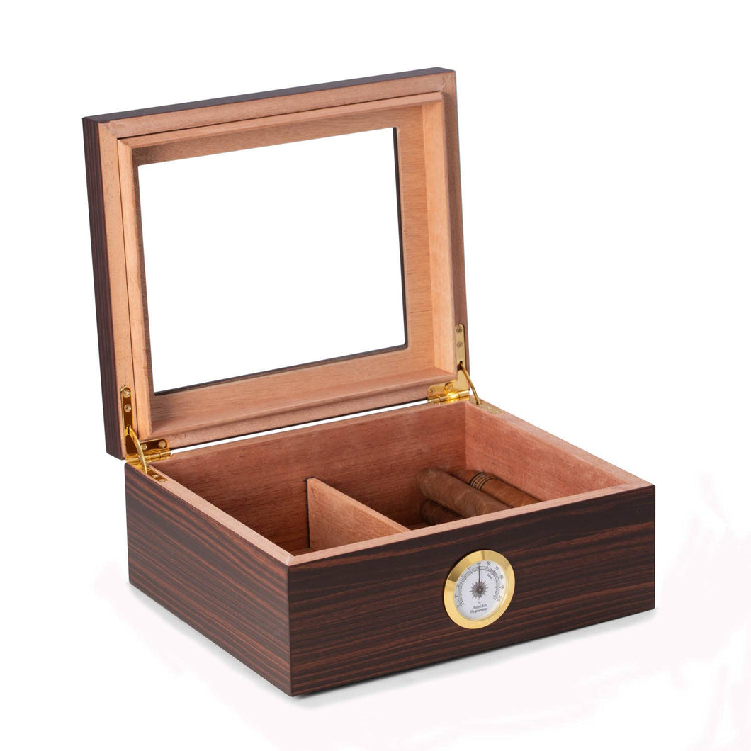 Espresso Wood Cigar Humidor with Lid - the-southern-magnolia-too