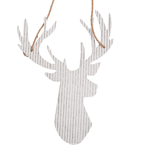 Corrugated Metal Reindeer Wall Decor Hanging - the-southern-magnolia-too