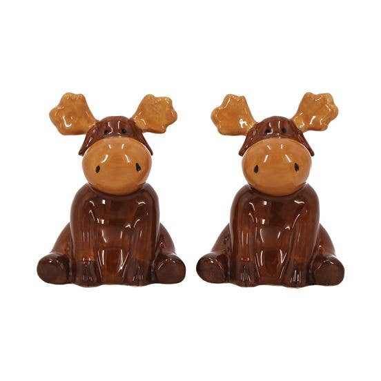 Moose Ceramic Salt and Pepper Shaker Set - the-southern-magnolia-too