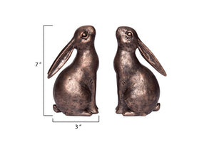 Resin Bunny Bookend Set - the-southern-magnolia-too
