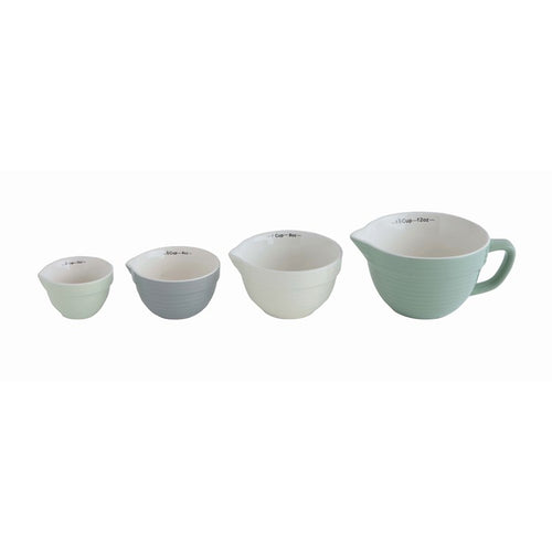 Stoneware Batter Bowl Shaped Measuring Cups Set - the-southern-magnolia-too