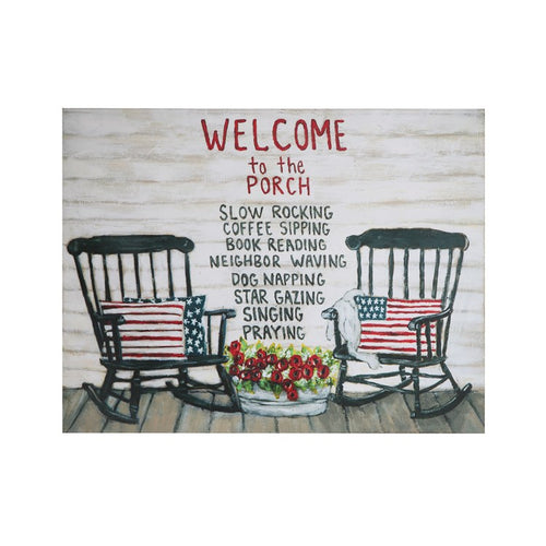 Welcome To the Porch Tin Wall Decor - the-southern-magnolia-too