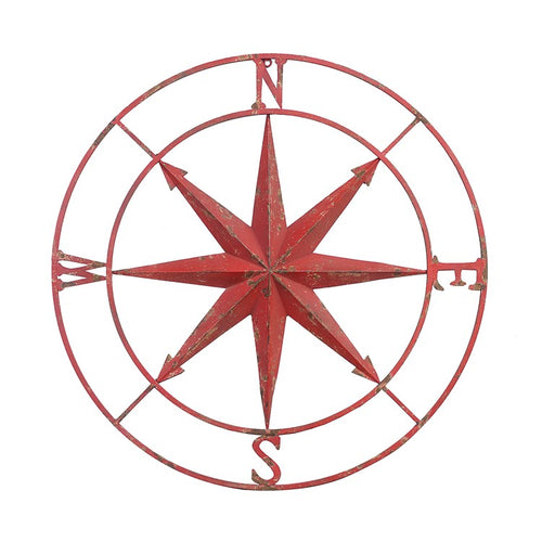 Round Metal Compass Rose Wall Decor - the-southern-magnolia-too