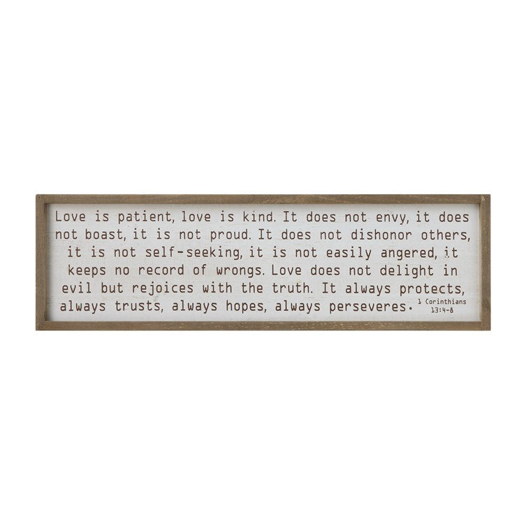 Wood Framed Wall Decor Love Is Patient - the-southern-magnolia-too