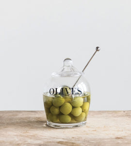 Glass Olive Jar Set - the-southern-magnolia-too