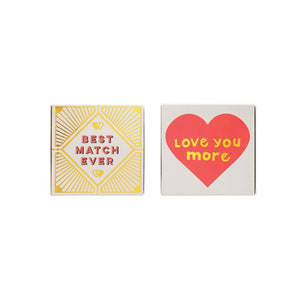 Square Love Matchbox Safety Matches - the-southern-magnolia-too