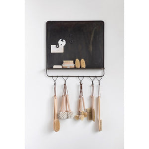 Metal Magnet Board Shelf with Hooks - the-southern-magnolia-too