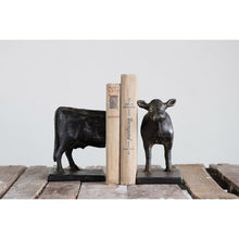 Load image into Gallery viewer, Cow Cast Iron Bookend Set - the-southern-magnolia-too