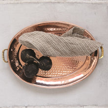 Load image into Gallery viewer, Hammered Stainless Steel Tray with Copper Finish - the-southern-magnolia-too