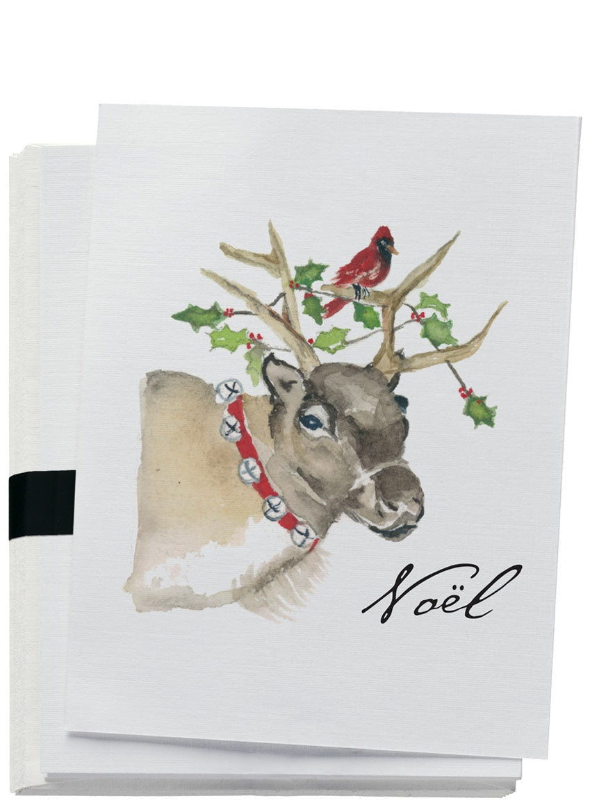 Reindeer Christmas Note Card Set - the-southern-magnolia-too