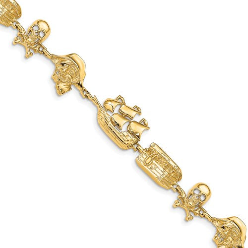 Gold Sea Life Pirate Bracelet - the-southern-magnolia-too