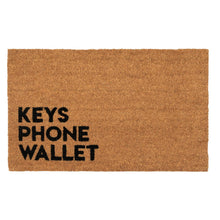 Load image into Gallery viewer, Reminder Keys Phone Wallet Coconut Fiber Coir Doormat - the-southern-magnolia-too