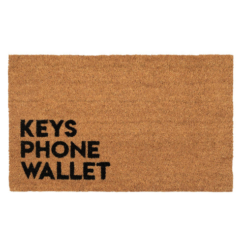 Reminder Keys Phone Wallet Coconut Fiber Coir Doormat - the-southern-magnolia-too
