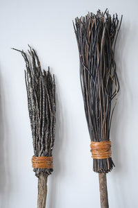 Mango Wood and Coconut Witch Broom Decor - the-southern-magnolia-too