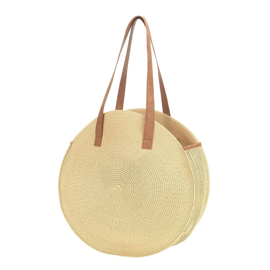 Monogrammed Natural Bungalow Purse Handbag Tote - the-southern-magnolia-too