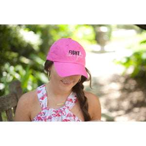 Fight Like A Girl Hot Pink Cap - the-southern-magnolia-too